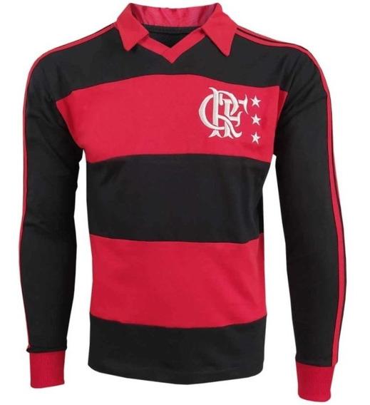 Camisa Flamengo Anos 80 Rn M/l - S/ Logo - 100% Algodão
