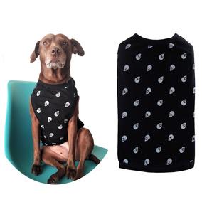 Roupa Pet Camiseta Caveira Verão Cães Até 10 Kg Tam P M G