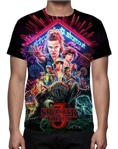 Camisa,camiseta Stranger Things 3ª Temporada - Estampa Total
