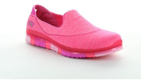 Tenis Skechers Mujer Rosa Textil 14010