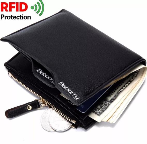 Carteira Em Couro Com Rfid Blocking - Modelo 28r