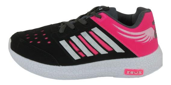 Tênis Esportivo Feminino Zeus Caminhada Corrida Academia Novo 34/39