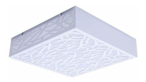 Plafon Acrílico Branco 20x20 Sobrepor Luminária Lustre 3227
