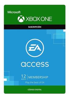 Tarjeta Ea Access 12 Meses Para Xbox One, Pepegames