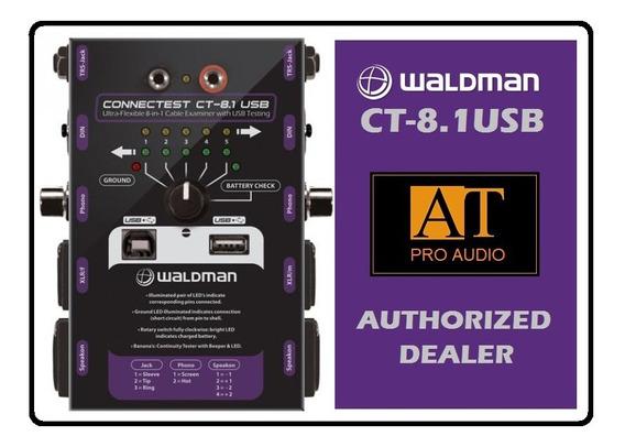Testador De Cabos Waldman Connectest Ct-8.1 Usb Xlr P10 Rca