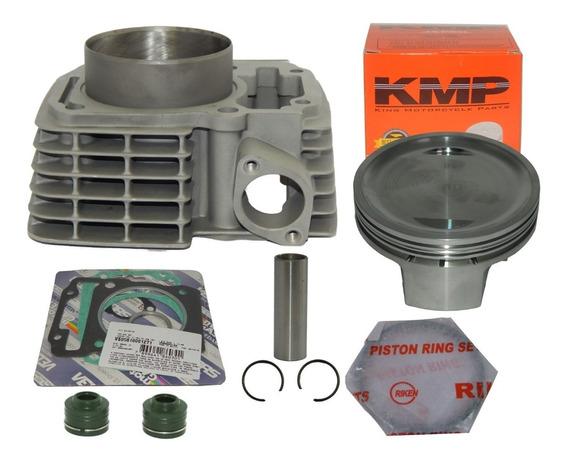 Kit Cilindro Cg 150 220 Pistão Kmp 70mm + Rik