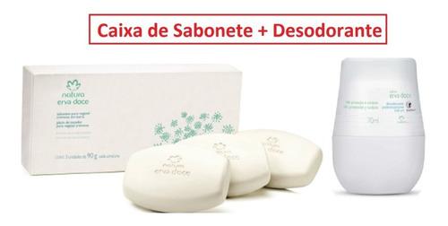 Kit Sabonete Erva Doce Natura 3un + Desodorante Erva Doce