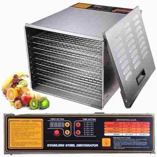 Deshidratador De Alimentos 10 Charolas Industrial 1200 Watts