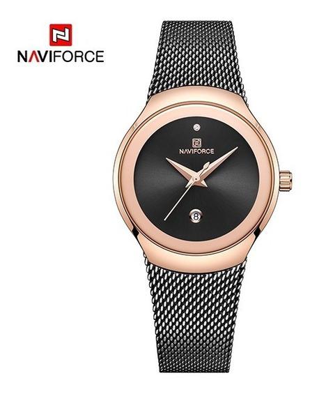 Relógio Feminino Naviforce 5004 Lindo Envio Em 24h Promoção