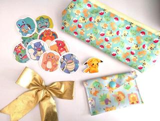Mini Set Para Regalo Anime Pokemon Pikachu Charizard