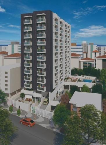 Apartamento Com 1 Dormitório À Venda, 47 M² Por R$ 300.000,00 - Campo Grande - Santos/sp - Ap5111