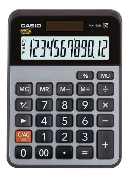 Calculadora De Mesa 12 Dígitos Cinza Mx120b Casio