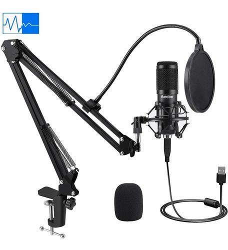 Usb Microfono De Condensador  Khz Juego De Enchufe De  ...