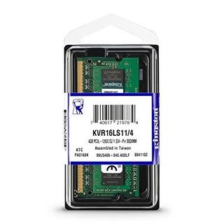 Memoria Kingston 4 Gb Laptop Ddr3l Pc3l-12800, Kvr16ls11/4