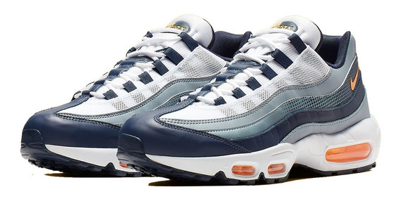 Tênis Nike Air Max 95 Se Midnight Navy Laser Orange