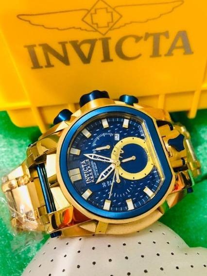 Relógio Invicta Bolt Zeus Magnum Dourado