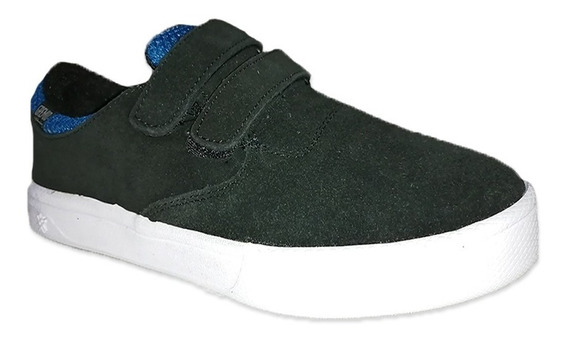 Tenis Gremio Negro Azul Skate Bauths