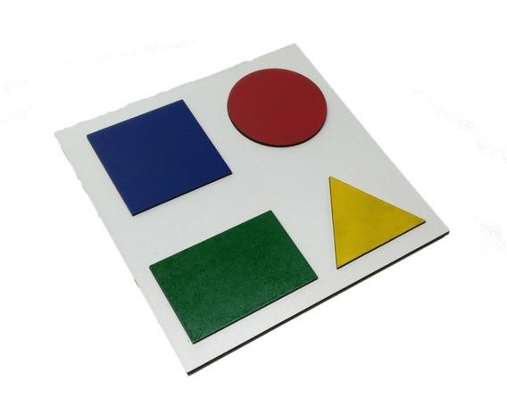 Quebra Cabeça Figura Geométrica Educação Infantil