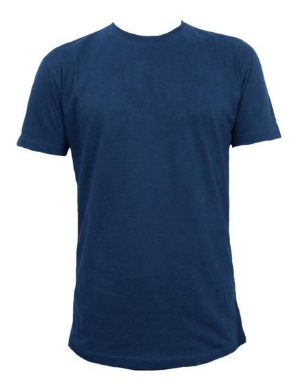 Remera Algodon Masefer Colores Gris - Azul