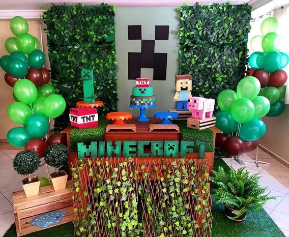 Aluguel Decoração Festa Mine Craft - Locação Sp