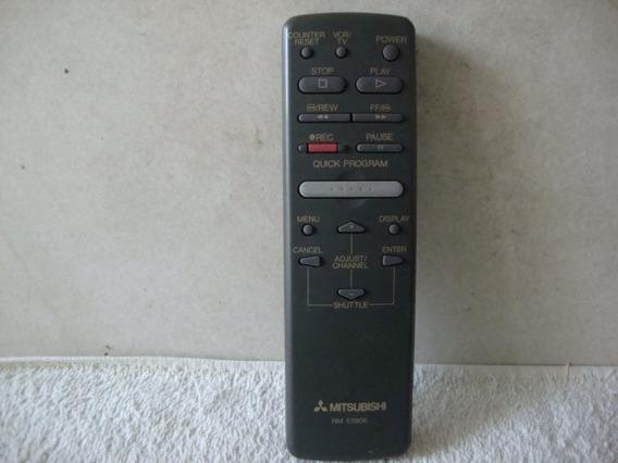 Controle Remoto Vcr Para Vídeo Cassete Mitsubishi Rm 53906.