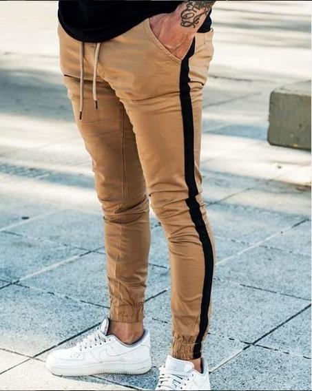 Pantalon Jogger Chupin Gabardina Elastizado