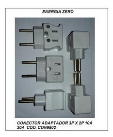 Adaptador 3 Pinos Para Dois 10a/20a Pac 3 Pcs Cod.con9802