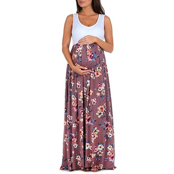 Vestido De Maternidad De Mujer Mother Bee White Wood Rose