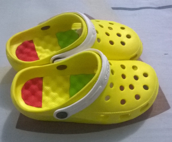 Zapatos Sueco Levanta Pompis Tipo Crox T36 Amarillo S6