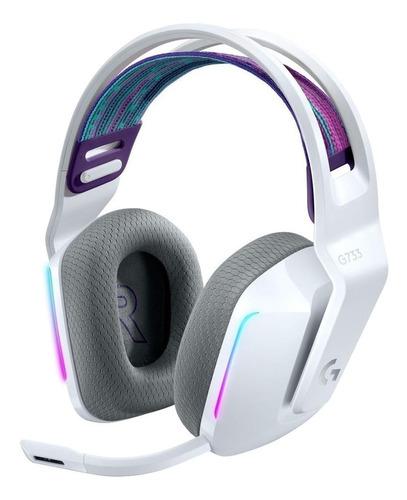 Imagen 1 de 3 de Audífonos gamer inalámbricos Logitech G Series G733 blanco con luz  rgb