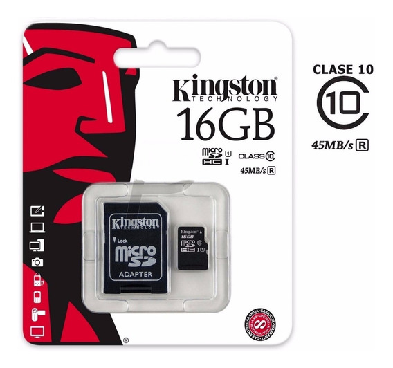 Memoria Micro Sd Kingston 2 En 1 16gb Clase 10