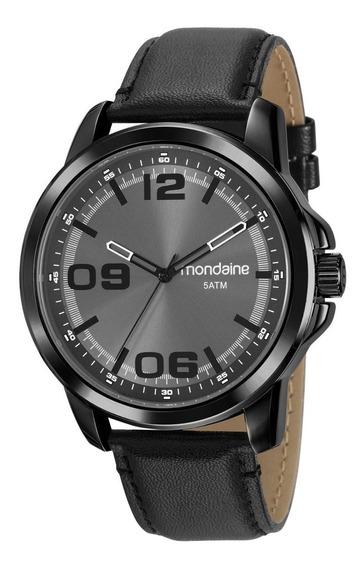 Relógio Masculino Mondaine 99382gpmvph2 48mm Couro Preto