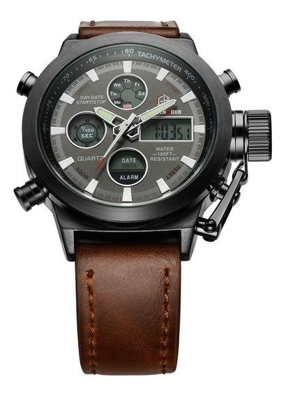 Relógio Golden Hour Estilo Militar - Pronta Entrega