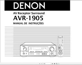 Manual Em Português Do Receiver Denon Avr-1905