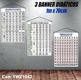 Kit Banners Silabários Simples + Complexo + Numerais Ywz1042