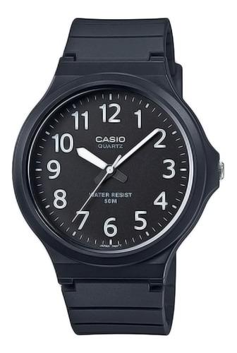 Imagem 1 de 9 de Relógio Casio Mw-240-1bvdf-sc Unissex Analógico Preto