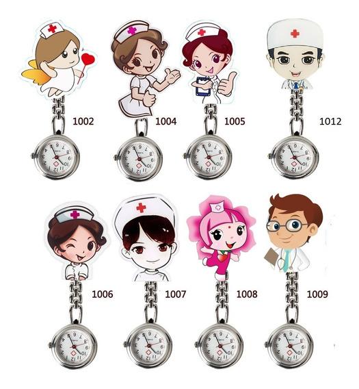 Reloj Enfermera Metal Broche Medico Doctor Hospital Mayoreo
