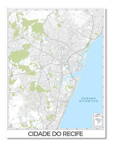 Mapas Ciudades De Recife, G S M Tucumán Y Europa 80cmx61cm