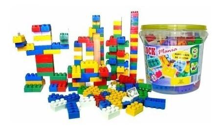 Balde De Blocos De Montar Com 52 Peças Brinquedo Educativo.