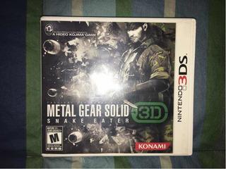 Metal Gear Solid 3d Para Nintendo 3ds