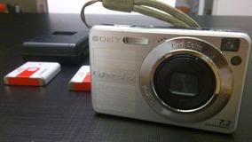 Camêra Digital Sony Com Carregador Bateria E Cartão Memória