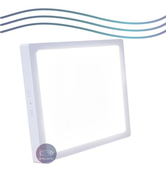 Kit 8 Luminaria Painel Plafon Led 25w Sobrepor Quadrado Frio