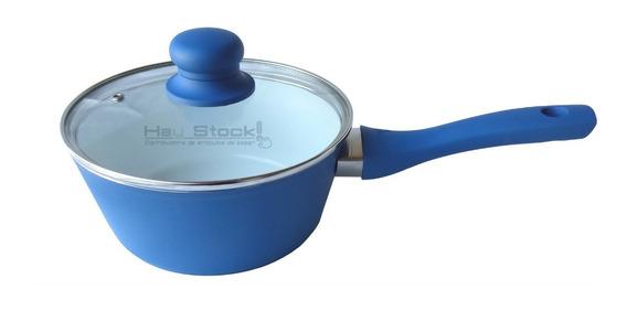 Cacerola Olla Con Mango 18 Cm Ceramica 4mm Induccion Hudson
