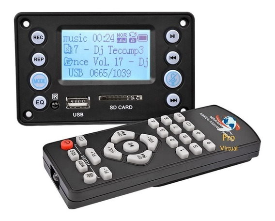 Placa Decodificador Mp3 Lcd /usb/sd/bluetooth/+top Do M.l