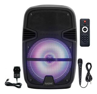 Parlante Bluetooth 2450w Karaoke Usb Sd Micrófono Cuotas