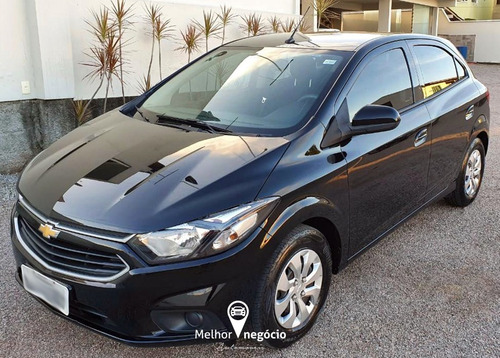 Chevrolet Onix Hatch Lt 1.0 8v Flexpower 2017 Preto