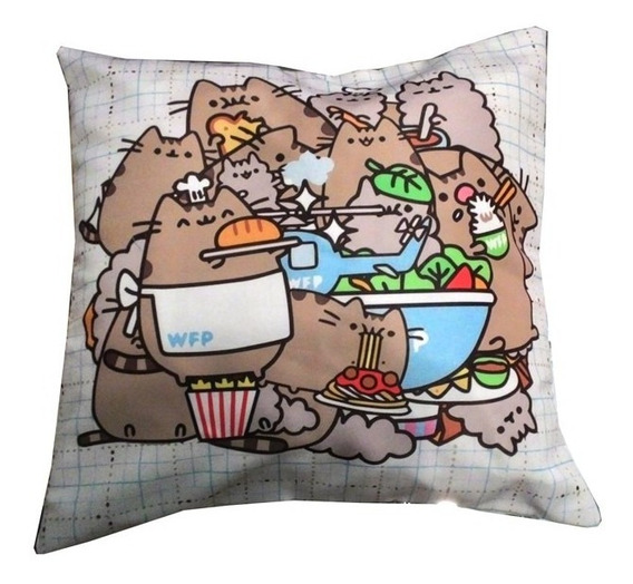 Almohadon De Pusheen Gato Cute Kawaii