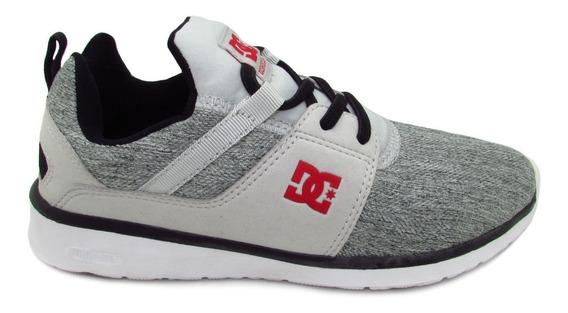 Tenis Dc Shoes Heathrow Tx Se Youth Adbs700034 Xskr Grey Bla