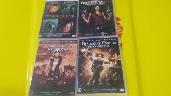 Dvd Quadrilogia Resident Evil - Dvd Original-04 Discos