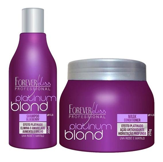Forever Liss Kit Matizador Platinum Blond - Shampoo + Mask